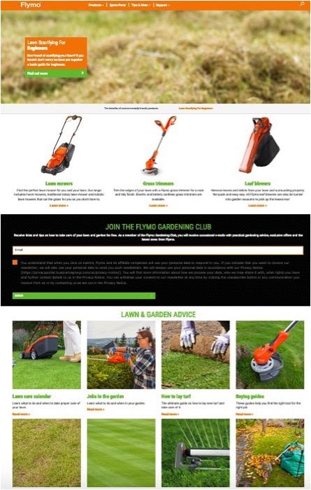 Flymo Homepage